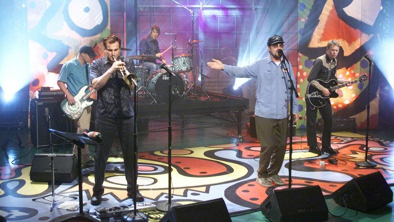 Cake performs on The Tonight Show in 2001