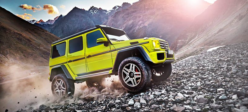 Illustration for article titled The Mercedes G500 4x4²: When Six Wheels Is Too Many Wheels