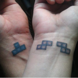 Illustration for article titled Tetris Tattoo For Couples