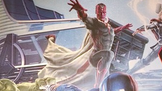 Illustration for article titled Our first look at the front of Age of Ultron's version of The Vision