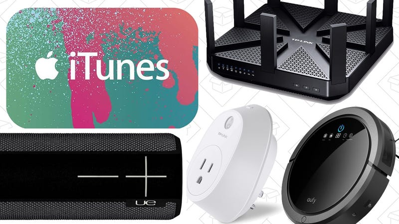 Illustration for article titled Today's Best Deals: Networking Gear, Anker RoboVac, iTunes Gift Card, and More