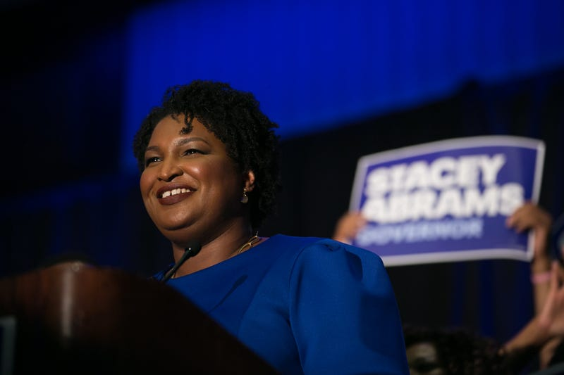 Georgia Democratic Gubernatorial candidate Stacey Abrams takes the stage to declare victory in the primary during an election night event on May 22, 2018 in Atlanta. If elected, Abrams would become the first African American female governor in the nation.