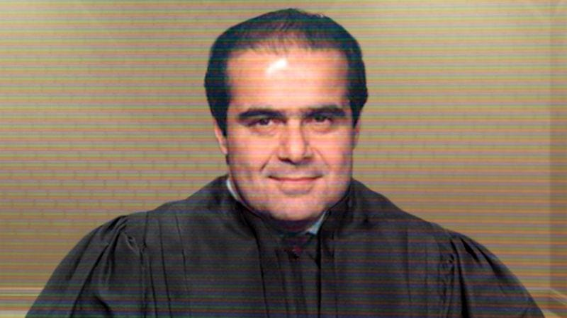 A 50-year-old Scalia delivers some of his best material on the Equal Protection Clause in this video still from his 1986 audition.