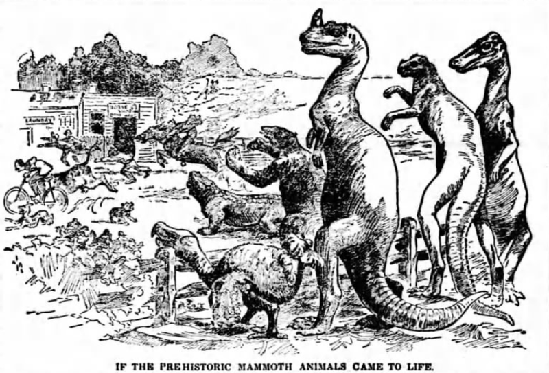 Illustration for article titled That Time a Newspaper Published a Guide to Hunting Dinosaurs