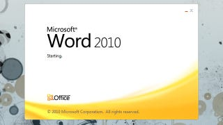 Illustration for article titled Start Microsoft Office Programs Without the Splash Screen