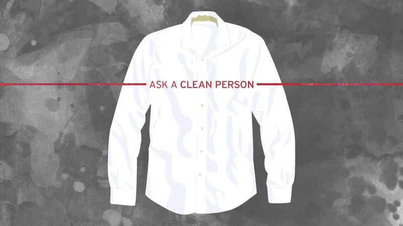 White dress shirt dirty collar