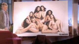 """Illustration for article titled Glamour's """"Plus-Size"""" Model Photo Unveiled On Ellen"""