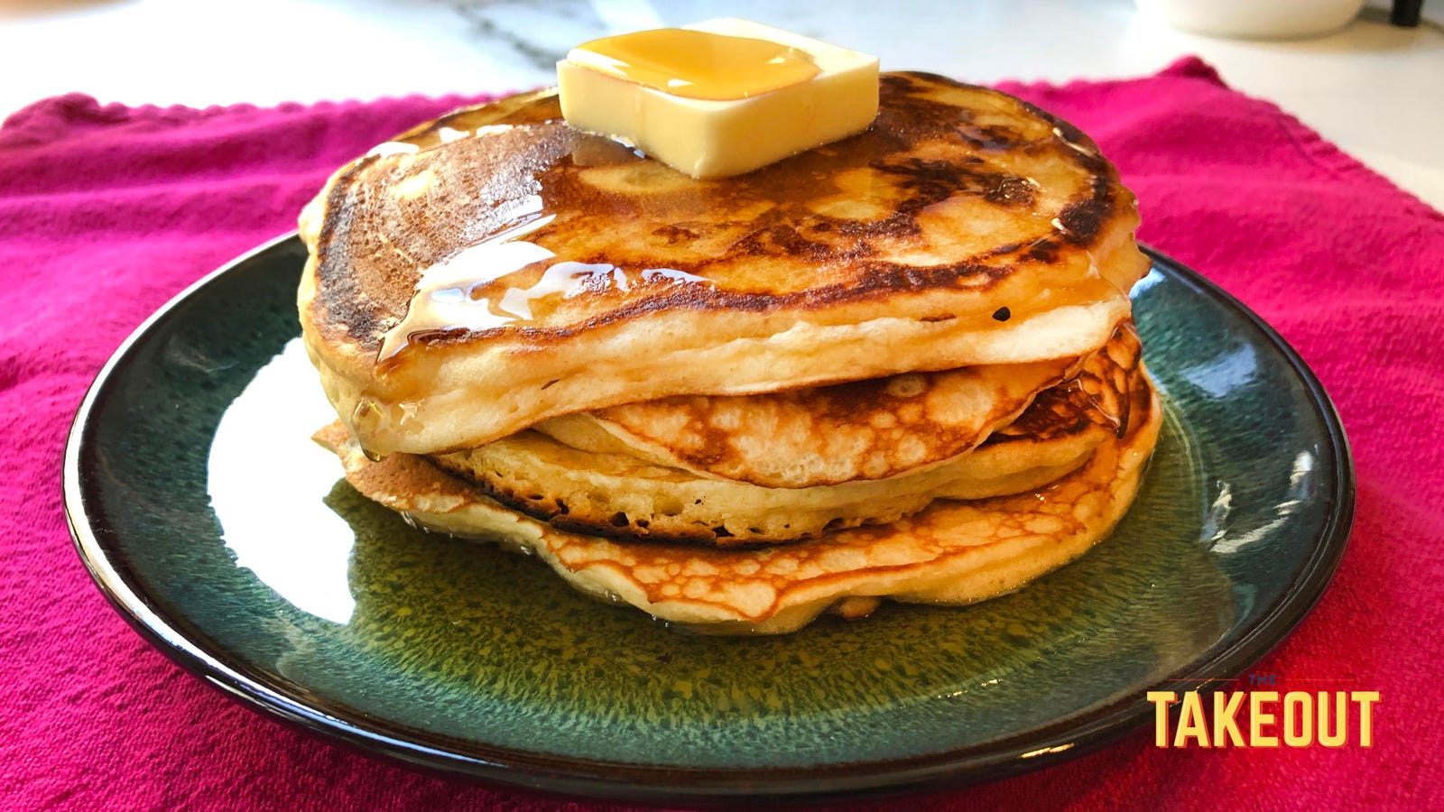 These magnificent pancakes are made from French onion dip
