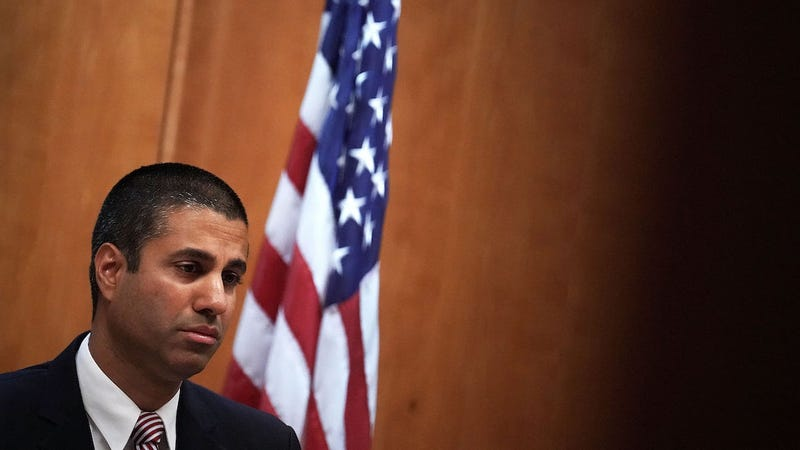 FCC Chairman Ajit Pai listens during a commission meeting December 14, 2017, in Washington, DC. (Photo: Getty)