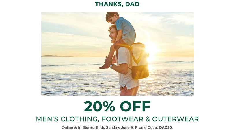 20% Off Men's Clothing, Footwear, and Outerwear | L.L.Bean | Promo code DAD20