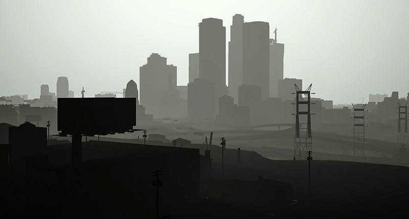 Illustration for article titled Este es el fantasmal aspecto de GTA 5 si eliminamos las texturas