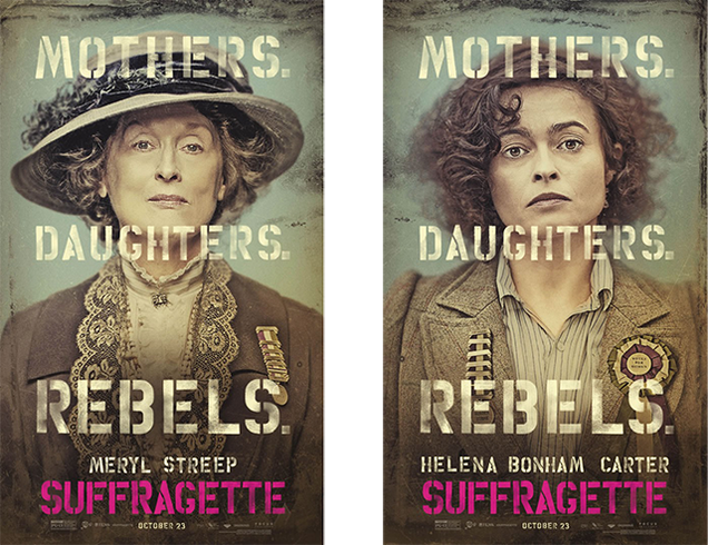 Ces affiches de Suffragette me donnent envie de sortir et d