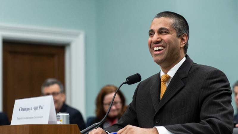 Illustration for article titled Don't worry, Ajit Pai says his FCC is not biased in favor of Sinclair Broadcasting