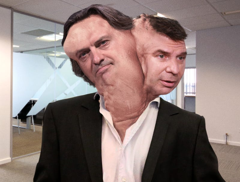 Illustration for article titled Sprint, T-Mobile CEOs Merge Into Grotesque Executive Hybrid
