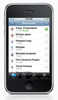 Illustration for article titled Apple's iDisk iPhone App Lets MobileMe Users View and Send Documents, Videos, and More