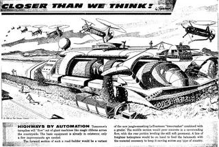 Illustration for article titled Highways by Automation (1958)