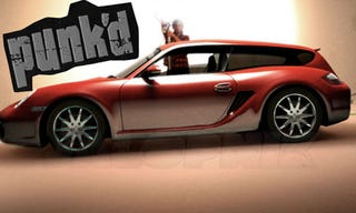 Illustration for article titled Porsche Cayman Shooting Brake A TopGear.com Going Away Prank