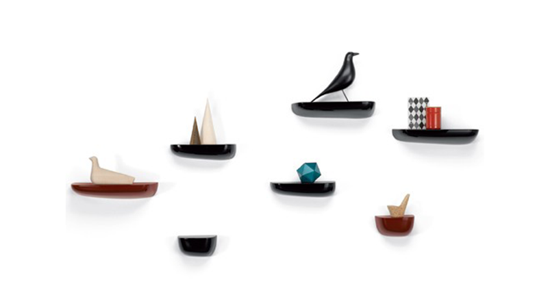 Illustration for article titled Corniche Shelves Are Slices of Nature to Hang Your Stuff From