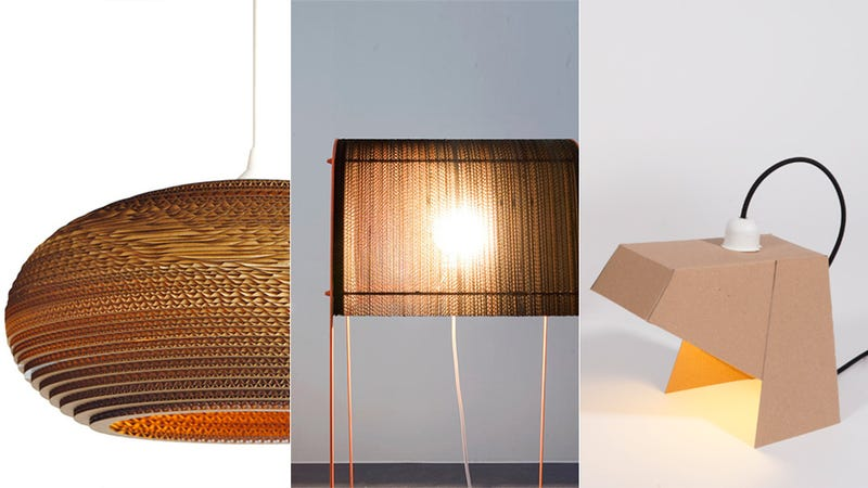 u made cardboard with modern lamp lighting recycled desk from ideas ecofriendly p