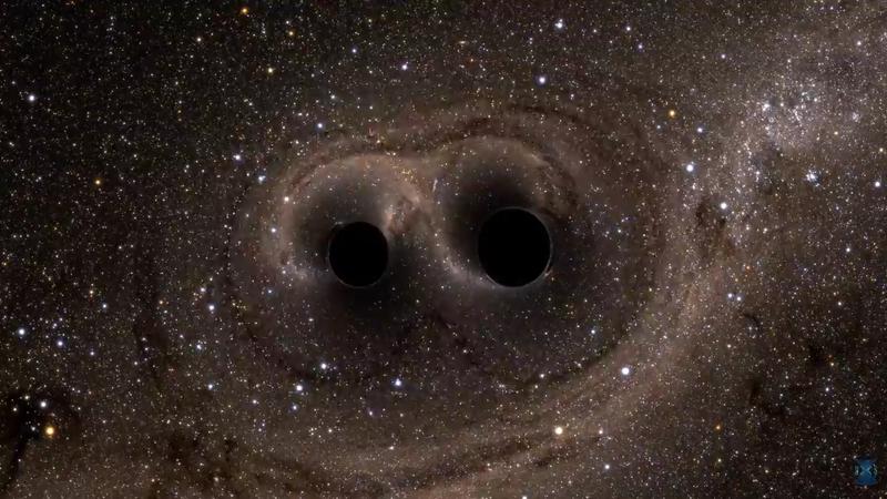 Computer simulation of colliding black holes.