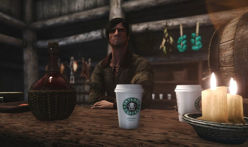 Illustration for article titled Skyrim Now Has Two Different Mods Based On The Game Of Thrones Coffee Cup