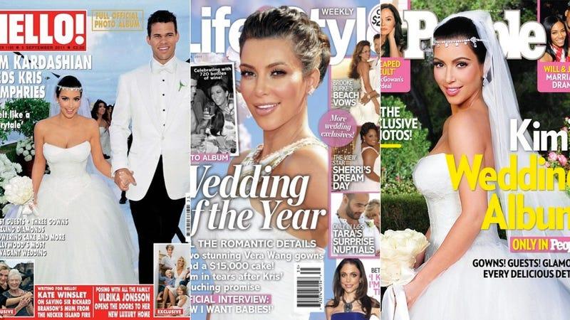 Illustration for article titled Kim Kardashian Got Divorced Before Her Wedding Dress Could Be Knocked Off