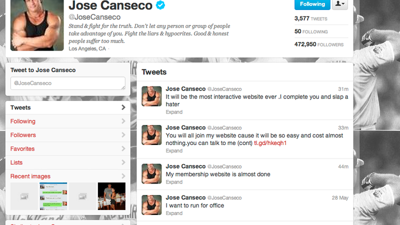 Illustration for article titled Join Jose Canseco's Website, Watch Him Do Steroids