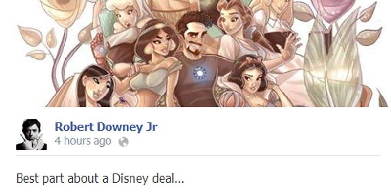 Illustration for article titled Robert Downey Jr. on Disney perks