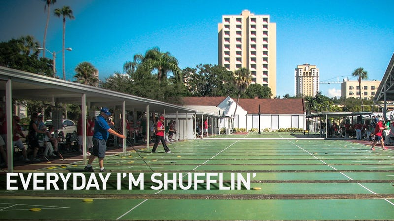 Illustration for article titled Stay Out Of The Kitchen: Day One At The World Shuffleboard Championship