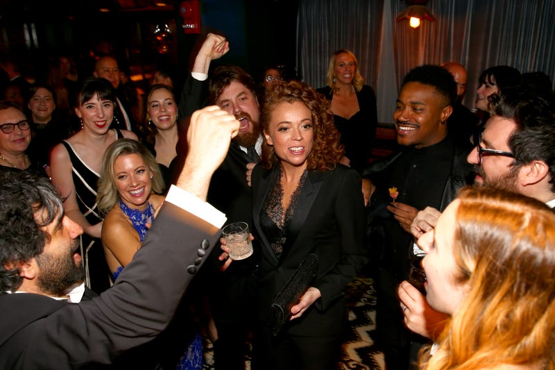 Comedian Michelle Wolf (center) attends the celebration after the White House Correspondents' Dinner on April 28, 2018, in Washington, D.C.
