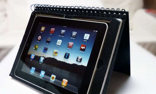 Illustration for article titled Combination DIY Stand and Notebook Case Disguises Your iPad