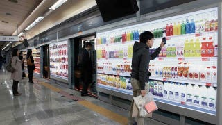 Illustration for article titled Buy Groceries at a Virtual Supermarket Inside a Subway Station