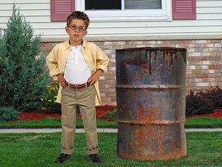 Illustration for article titled Enterprising Child Saves $54 To Buy Barrel Of Oil