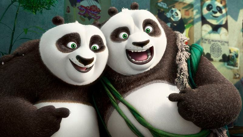 """Illustration for article titled """"Find yourself,"""" says Kung Fu Panda movie that's just like the other two"""