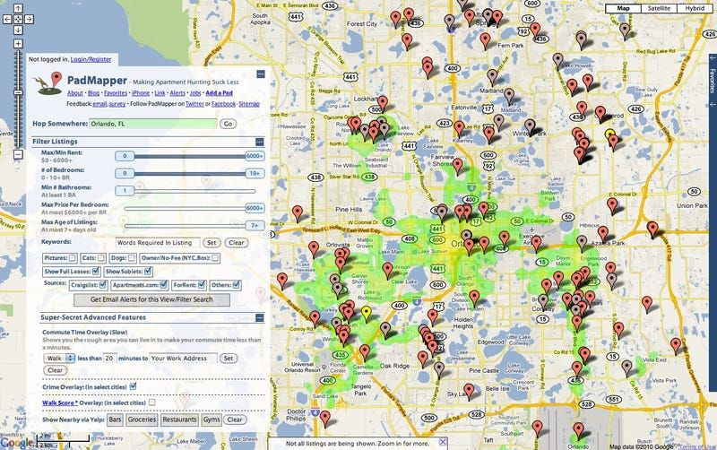 Apartment Search Tool PadMapper Maps Out Crime Statistics to