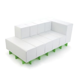 Illustration for article titled Oi Modular Sofa Makes me Think of Albino Tetris, Shipping Now