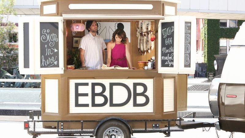 Jon Lajoi and Katie Aselton in the new EBDBPro cart
