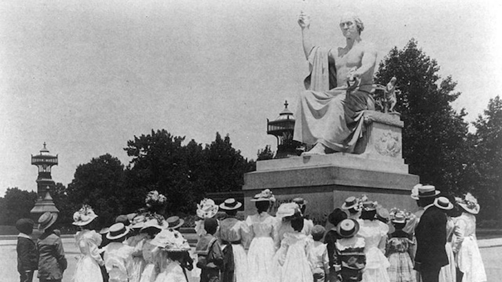 The statue of George Washington deemed too risqué for