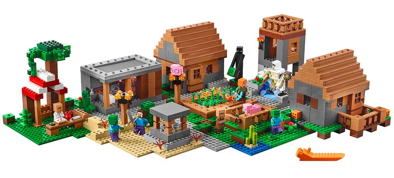 Illustration for article titled Turn Bricks Into Blocks With Lego's New Sprawling Minecraft Village