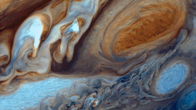 Jupiter's Great Red Spot, as viewed by Voyager I in 1979. Photo Courtesy NASA/JPL