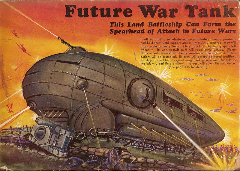 Illustration for article titled Future War Tank (1939)