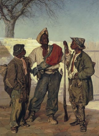 Frank Buchser, The Volunteer's Return, 1867. Oil on canvas, 97 x 77 cm.Basel, Kunstmuseum.