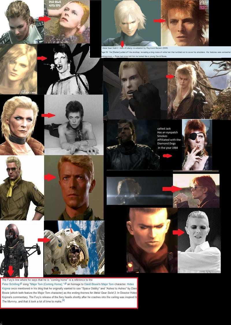 Illustration for article titled David Bowie Is Every Metal Gear Solid Character Ever