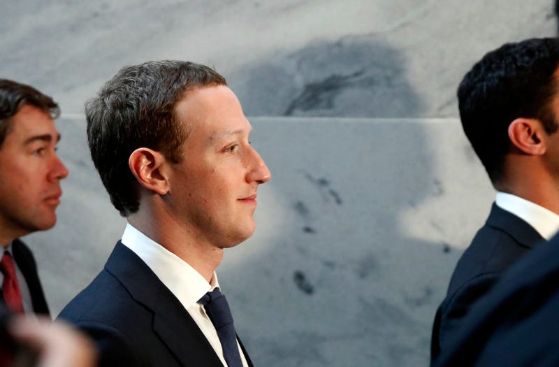 Facebook CEO Mark Zuckerberg departs after meeting with senators on Capitol Hill on April 9, 2018, in Washington, D.C.