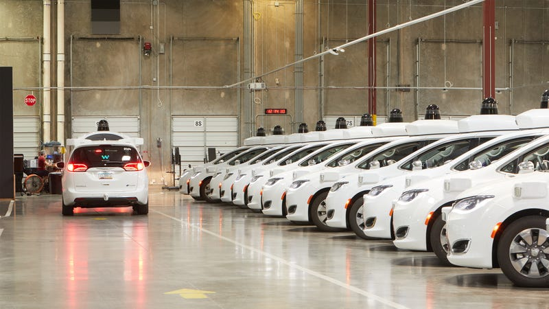 Waymo's depot in Chandler, Arizona