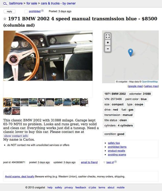 For $8,500, This 1971 BMW 2002 Brings Some Neue Klasse