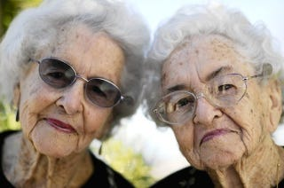 Illustration for article titled Twin Sisters Celebrate 100th Birthday
