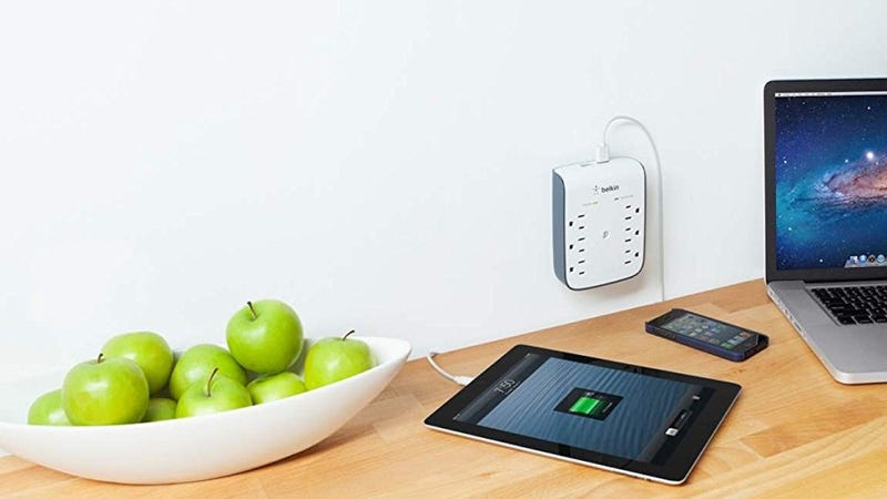 Belkin SurgePlus 6-Outlet Surge Protector with Dual USB Ports | $14 | Amazon