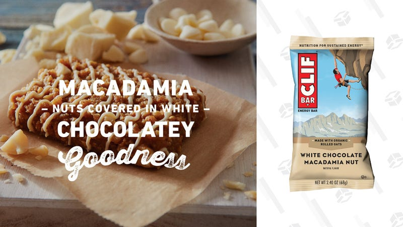 CLIF Bar White Chocolate Macadamia (12 Count) | $6 | Amazon