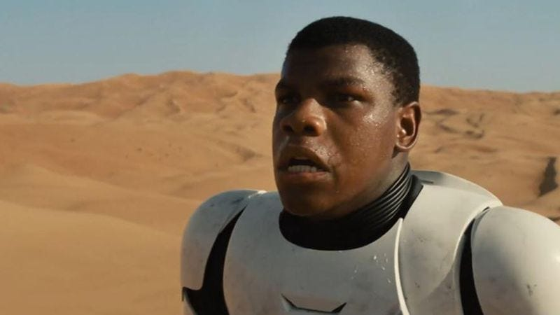 """Illustration for article titled John Boyega tells fans freaking out about black Stormtroopers to """"get used to it"""""""